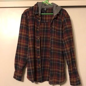 Volcom flannel with hood